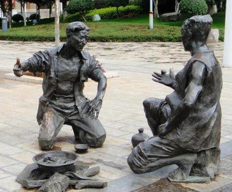 铸铜雕塑制作过程是什么?使用什么进行粘合